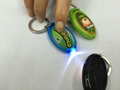 soft PVC coated key-chain with LED light for capsules toy promotional gift