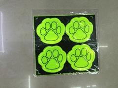 reflective sticker bear footprint