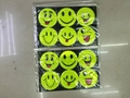 reflective sticker smile faces high