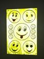 reflective sticker smile faces