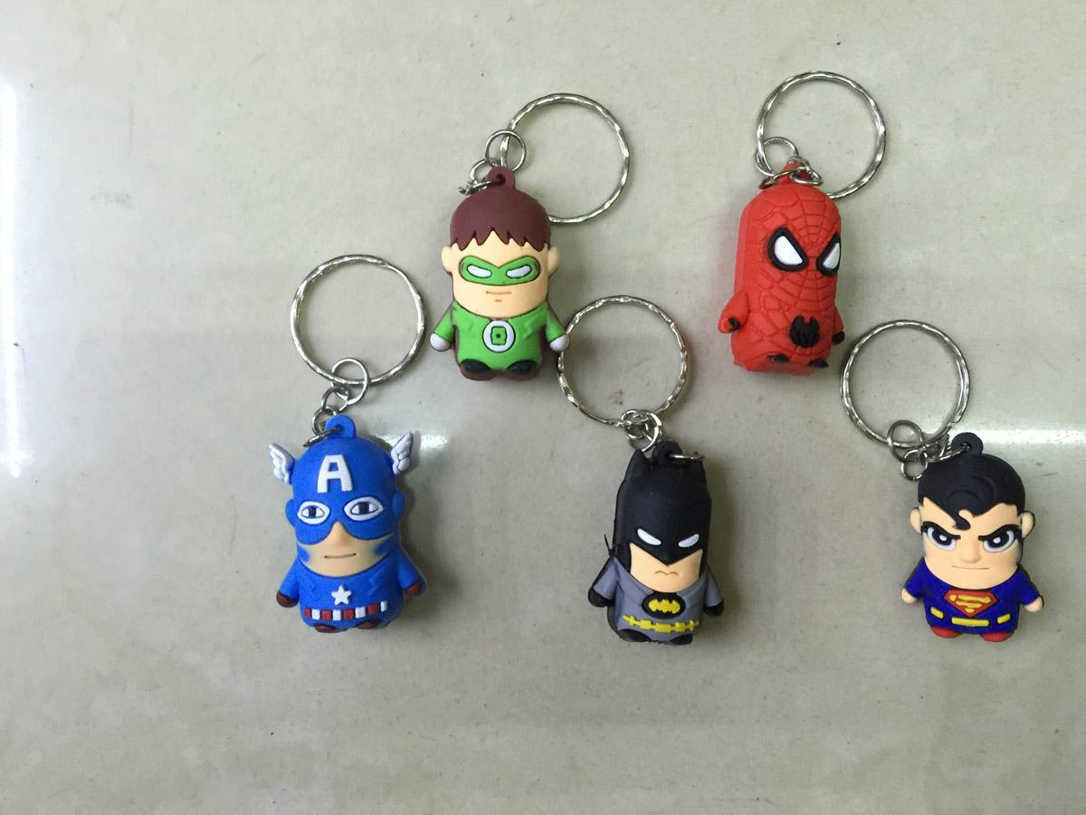 justice league keychain charm dangler 1
