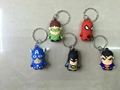 justice league keychain charm dangler