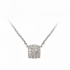 Wholesale Silver Jewelry, 925 Sterling Silver Necklace, Love Bead Necklace