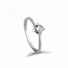 Kangle fashion Pt plated 925 sterling silver ring with crystal diamond BO70008