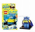 Buildable toy Sponge Bob figure Lego type