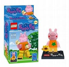 Buildable DIY Building blocks of Peppa Pig Mini figures