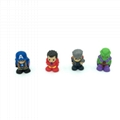 soft TPR marvel super hero pencil topper
