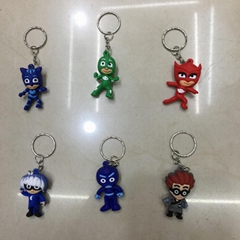 3D Soft PVC PJ Masks Toy Figure Key-chain