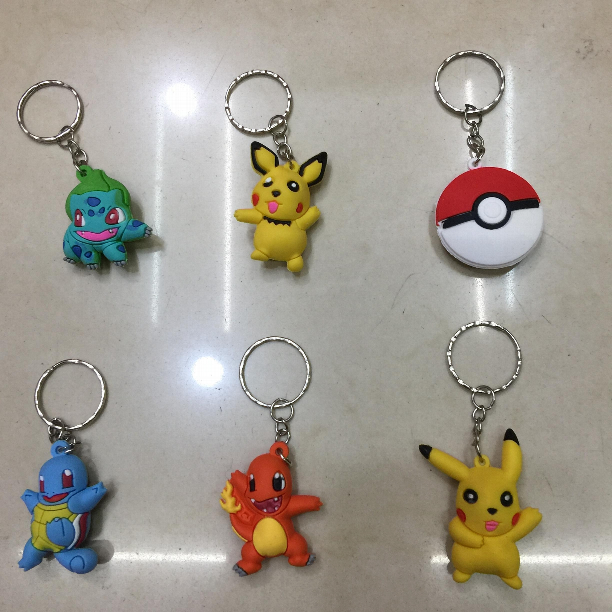 Cute Soft PVC Pokemon Toy Figure Dangler