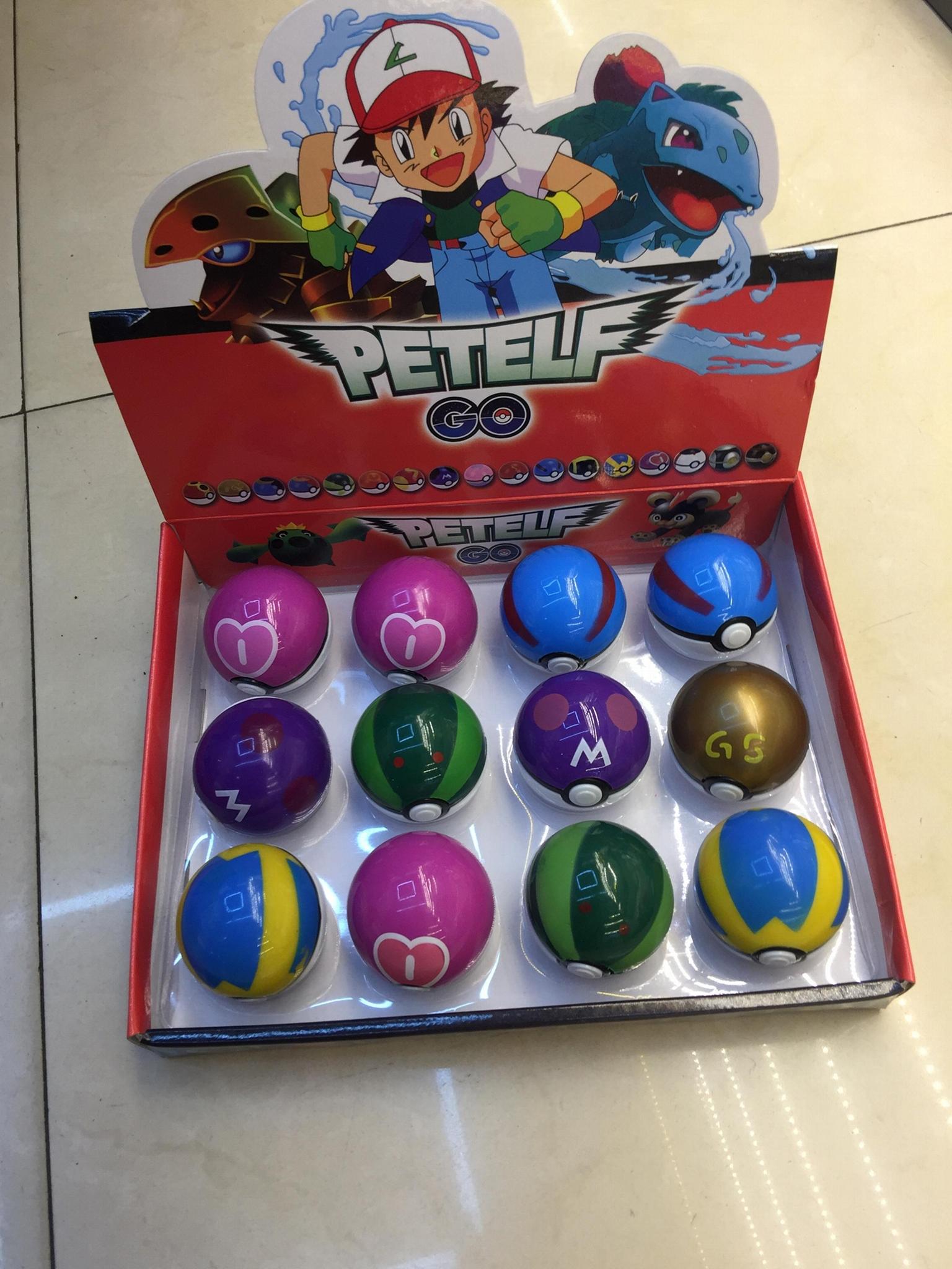 "12 Type of 2"" Pokemon Ball"