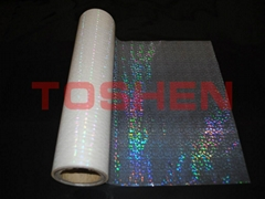 Transparent hologram thermal laminating film