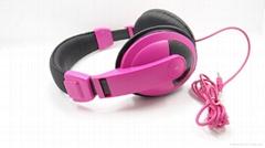 stereo colorful headphone for big ear headphone wholesale