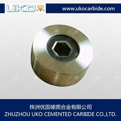Tungsten carbide drawing die