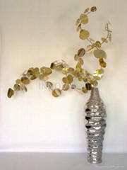artistic metal vase decoration