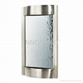 modern wall fountain in stainless steel