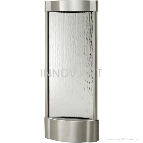 modern wall fountain in stainless steel 2