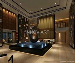 large size hotel decoration metal iron sculpture artworks