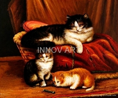 animal art oil painting for decoration