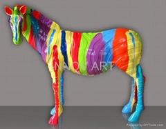 artistic painted animal sculpture art