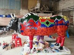 customized artistic painted resin cast art sculptures