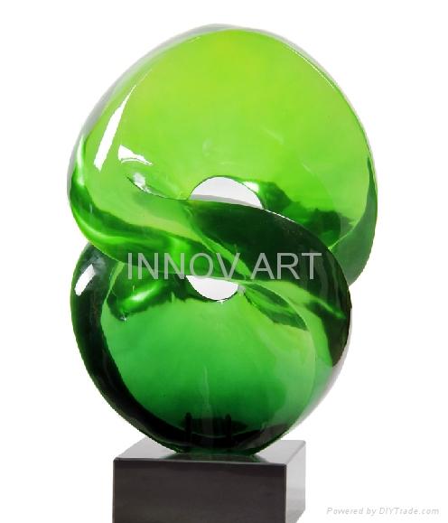 Imitation jade sculpture in resin art 2