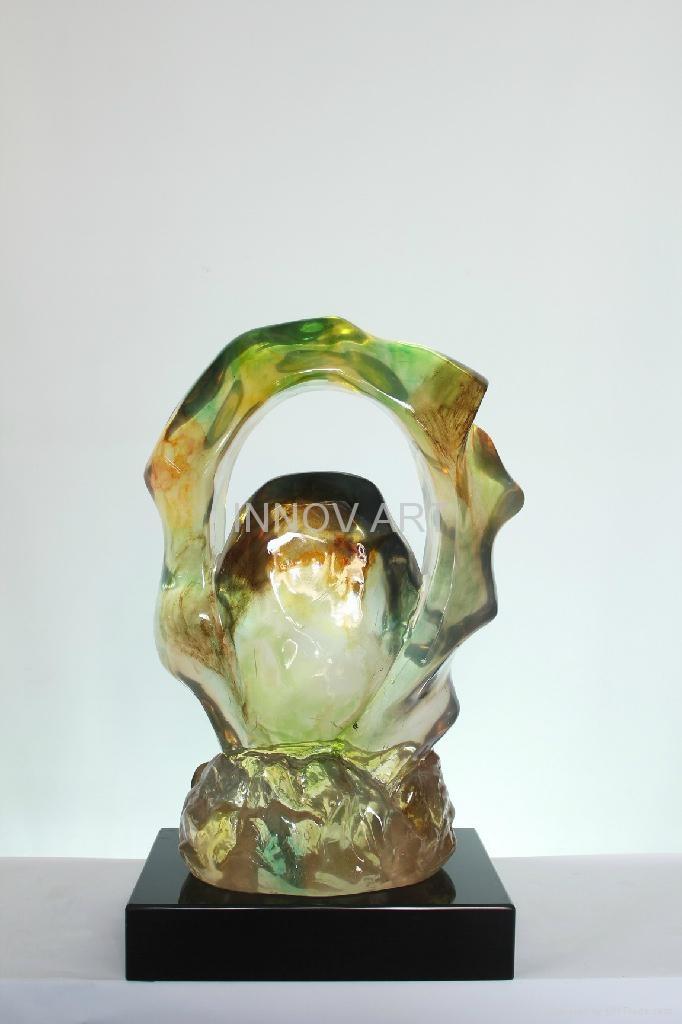 Imitation jade sculpture in resin art 5