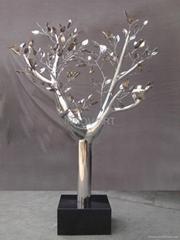 exterior outdoor decoration sculpture stainless steel tree art