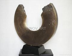 abstract antique fine art bronze sculpture