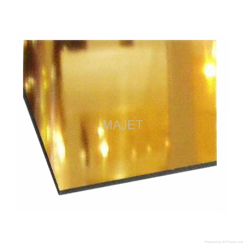 Gold and silver mirror aluminum composite panel acp sheet