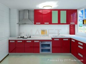 Aluminium Composite Panel Kitchen Cabinets