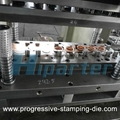 Small metal part progressive die