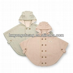 100% Organic Cotton Baby Girl Cloak Clothes