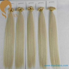 remy human hair U tip hair extension nail tip hair extension