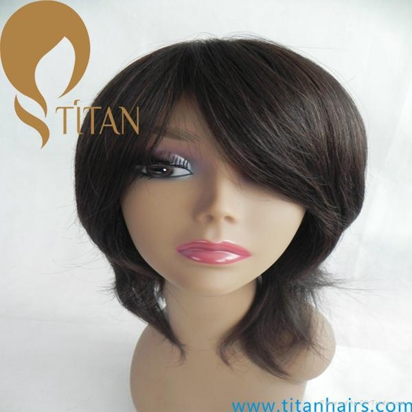 remy human hair full lace wig swiss lace wig 1