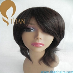 remy human hair full lace wig swiss lace wig