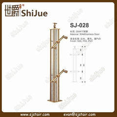 New Shining Stainless Steel Glass Balustrade for Stairs (SJ-028)