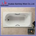 Rectangular cast iron bathtub