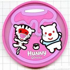 fashion pvc tea  cup coaster