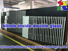Insulating glass with inserted blinds,Blinds in double glass