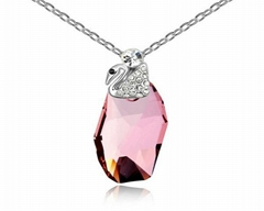 Fashion noble jewelry necklace swan pendant