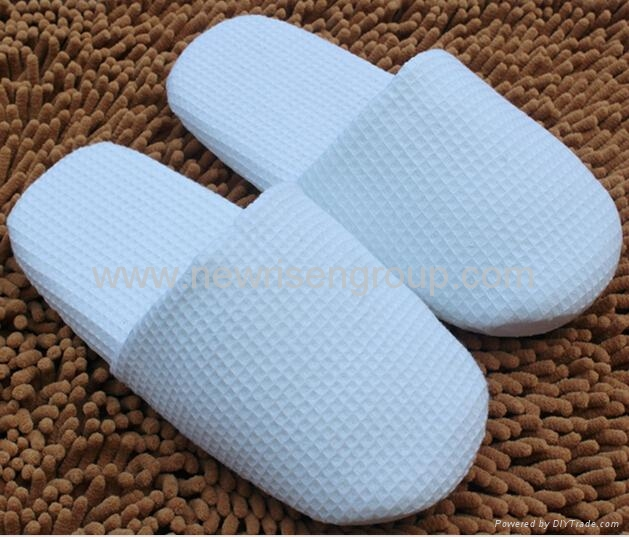 High Quality Terry Towel Vamp & Insole Closed toe disposable indoor hotel slippe 1