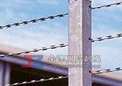 直線型刀片刺繩