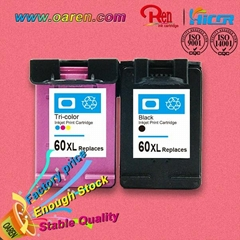 compatible ink cartridge for HP 60XL CC644W chip reset to full ink level
