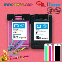 Chip Reset to full level color ink cartridges for hp  662xl  CZ106AL