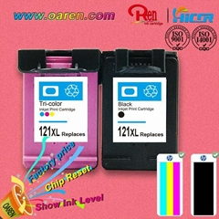 high profit margin products chip reset for hp121xl  ink cartridge show ink level