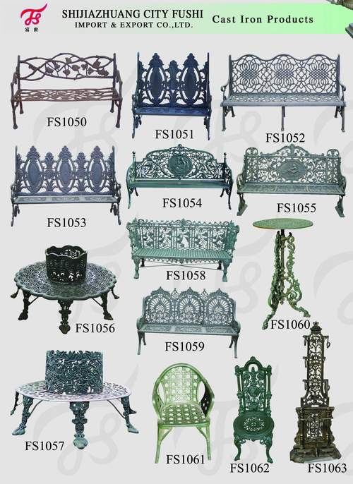 cast iron garden bench China Manufacturer iron products FUSHI
