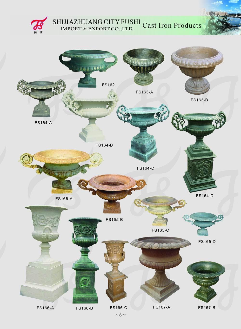 Cast iron urn