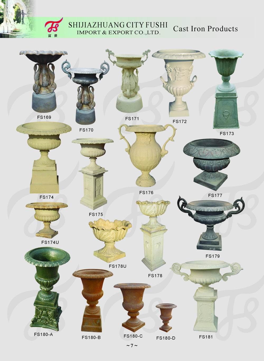 Cast iron urn 1