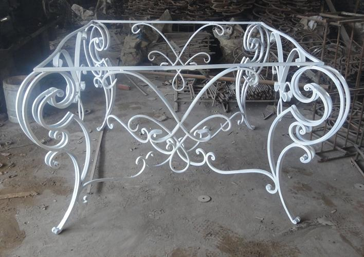 Wrought iron console 1