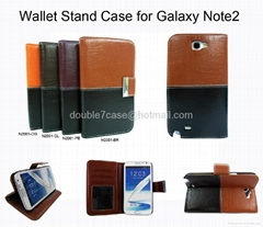 Samsung note2/3  s4 n7100 cheap leather case